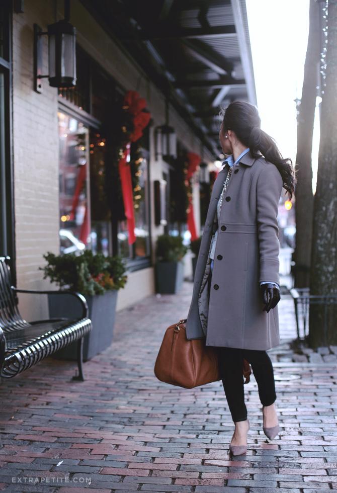 taupe coat duffel bag 1
