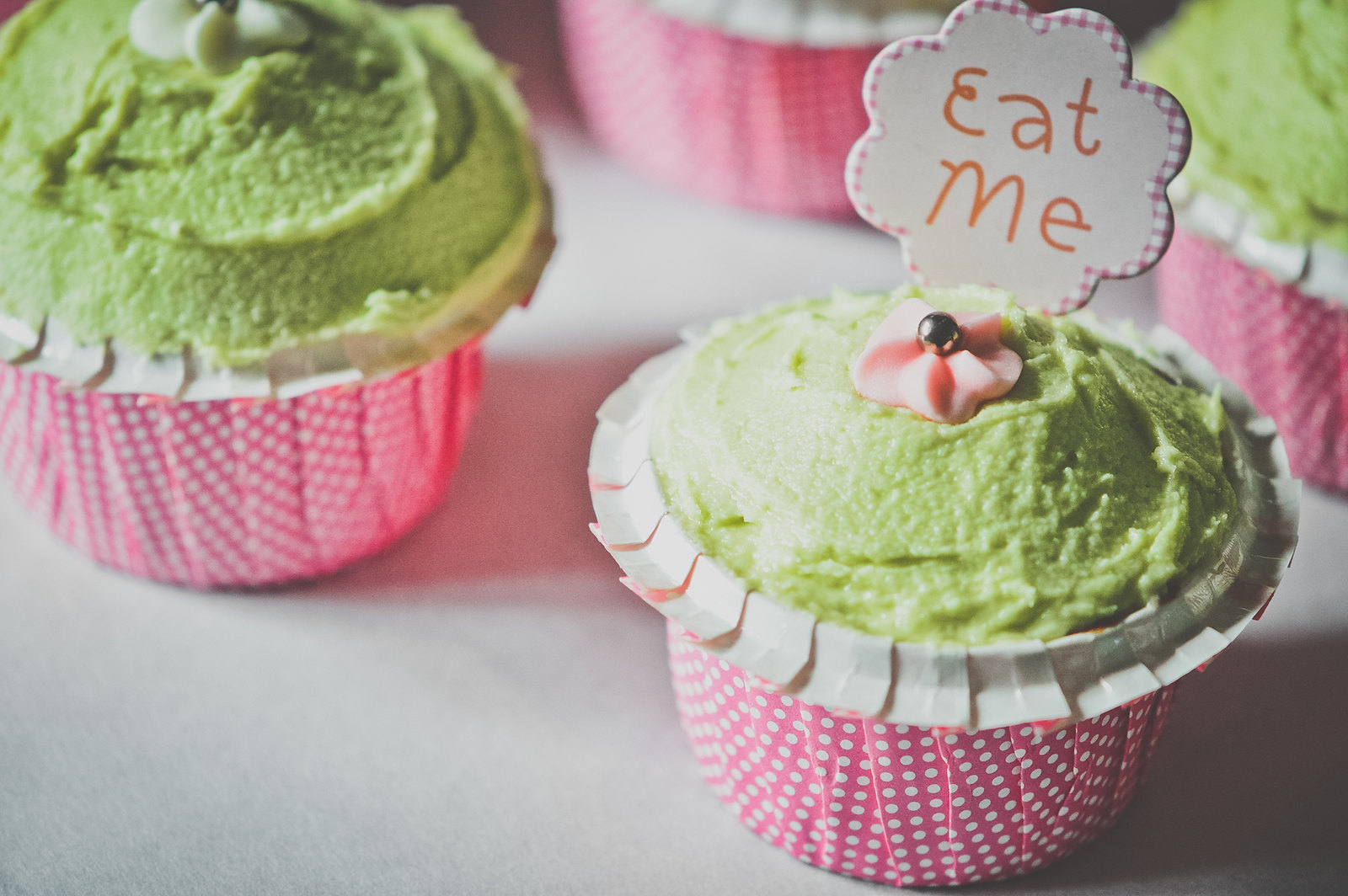 Honey Cupcakes Green Tea Icing