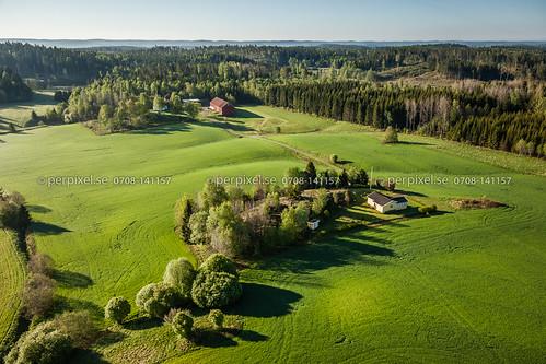 3 sverige swe torp västragötaland flygfoto högsäter rännelanda