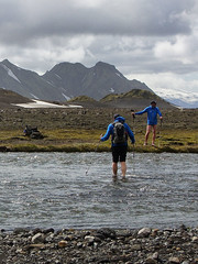 Glacial River Crossing