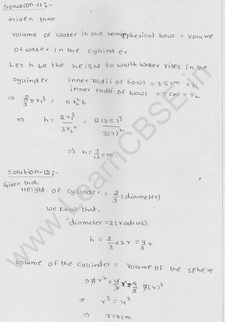RD Sharma Class 9 solutions Chapter 21 Surface Area and volume of A Sphere Ex 21.1 17