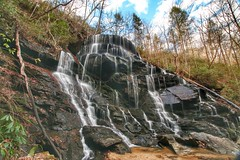 Yellow Branch Falls - 50 ft unique waterfall just north of Walhalla, SC