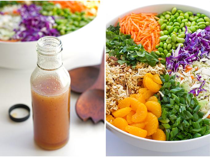 Asian Ramen Noodle Salad - loaded with a fresh vegetables and my sweet sesame vinaigrette! #asiansalad #ramennoodlesalad #asianramensalad #ramensalad   littlespicejar.com