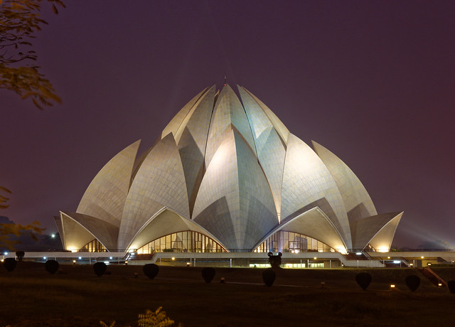 Lotus Temple at Night