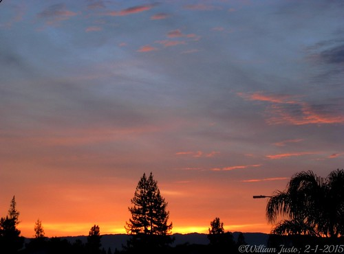 A Cloudy Sunset On The First Day Of February 2015 (2-1-15) Photo #7