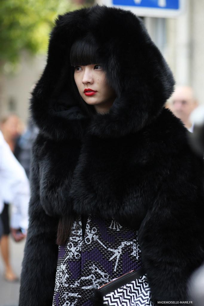 Akimoto Kozue at Paris fashion week