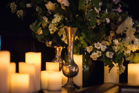 Wedding candles and vase.