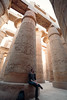 Sebastian, in the Great Hypostyle Hall at Karnak temple in Luxor