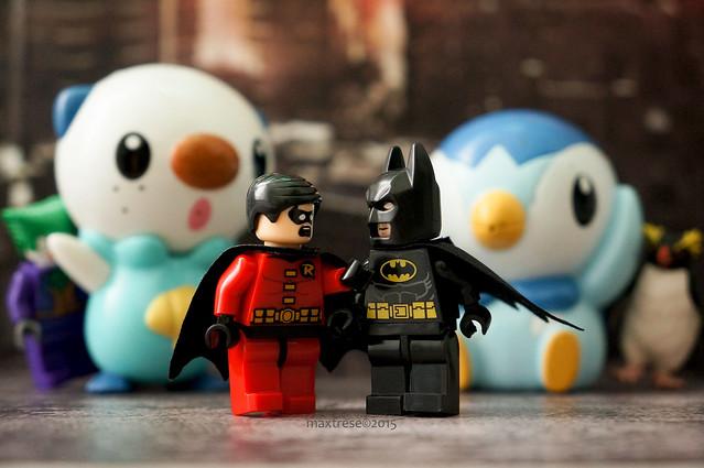 Hiding from Lego Batman and Robin
