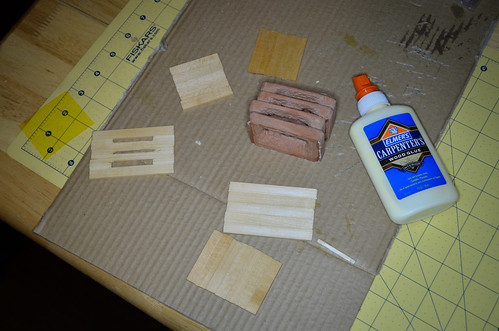 Carlsbad Caverns - Step 5 - Glue Balsa
