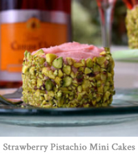 Strawberry Buttercream & Pistachio Mini Cakes