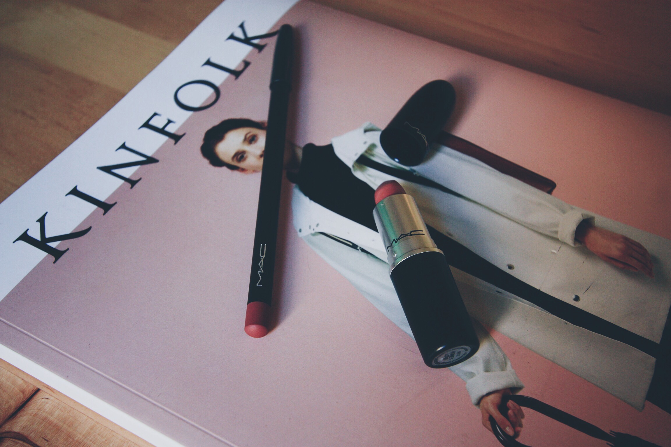 Kinfolk, MAC, Matte, Lip Pencil, Honeylove, Subculture, Swatch, Beauty
