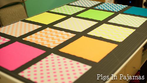 Neon quilt layout