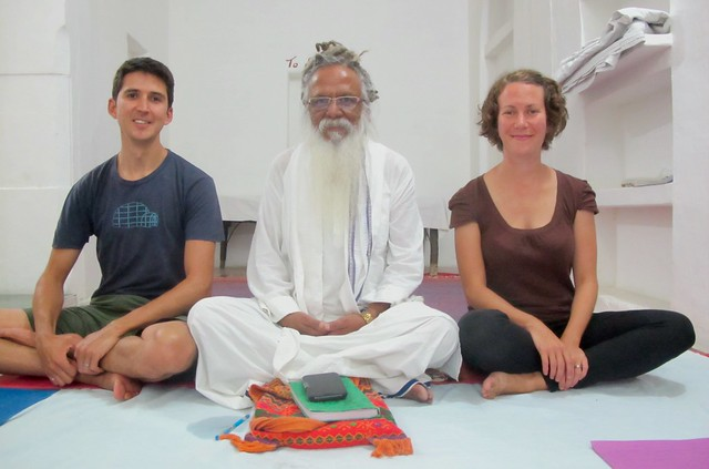 India - Pushkar yoga Swamiji and us