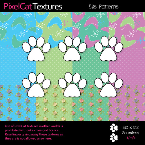 PixelCat Textures - 50s Patterns