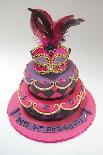 Venetian Mask Cake Beautiful Birthday Cakes