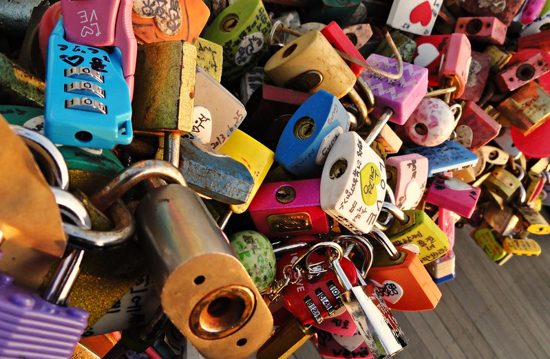 Love locks at Namsan Tower, Seoul