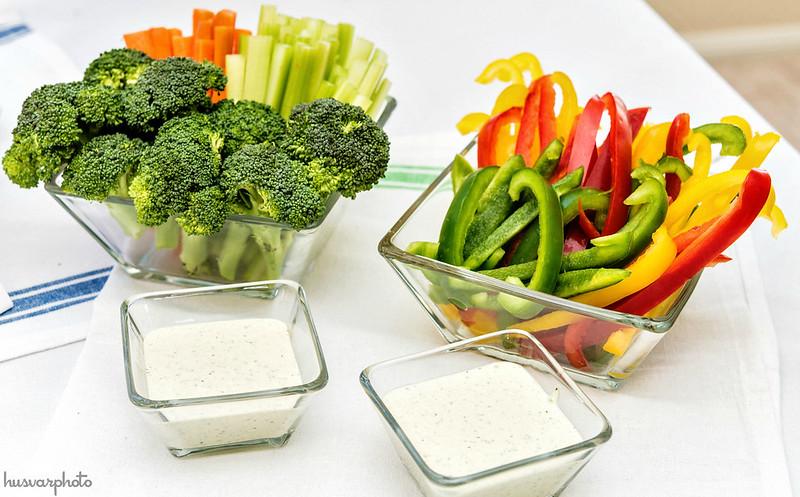 #ChooseSmart game day wing bar veggies