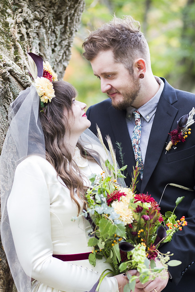 Tiny, hip, simple wedding from Offbeat Bride