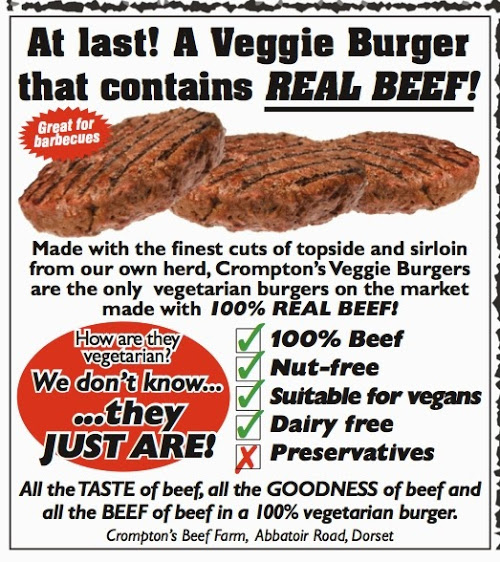 Nes kiekvienas vegetaras nori tikros jautienos :)