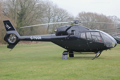 G-TGGR - 2001 build Eurocopter EC120B Colibri, visiting the 2015 Cheltenham Festival