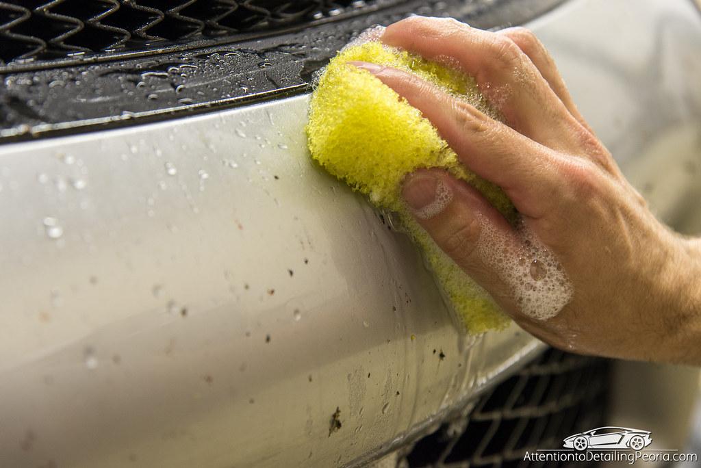 using bug sponge on the paint