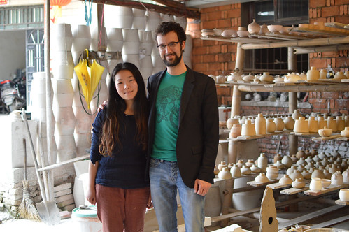 François and Miss Zhang, potter in Jingdezhen