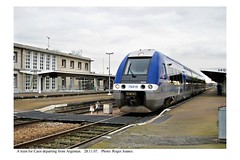 Argentan. Train departing for Caen. 28.11.07 - Photo of Fleuré