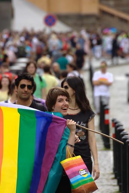 Pirátka Míša Krausová na Prague Pride