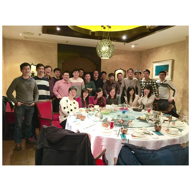 #Dinner with my high school #Classmate last #Weekend Almost all the boys come, but where's our girls?  @ #Restraunt #Shanghai #China #Asia #ZMJatSH #ZMJ2014  2014.12 #Happy #Instadaily #日常 #Life #Party #Friend #Memory #Winter