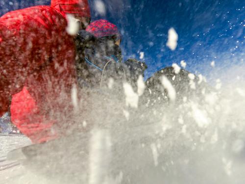 Blasting snow