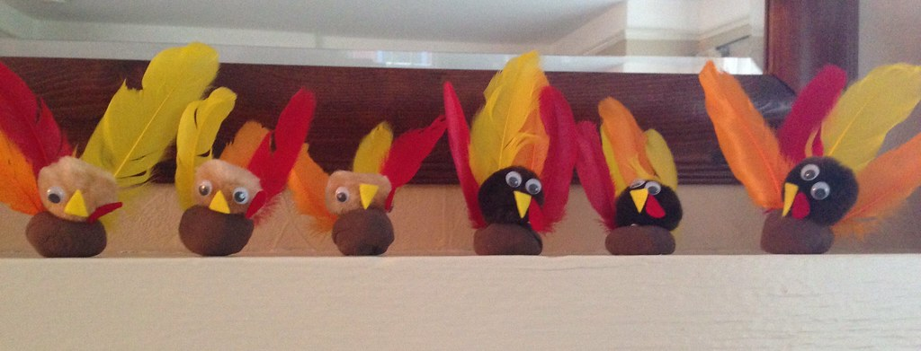 turkey craft time at the griffith house