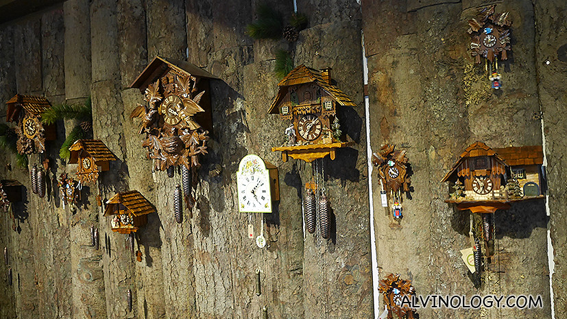 Collection of cuckoo clocks