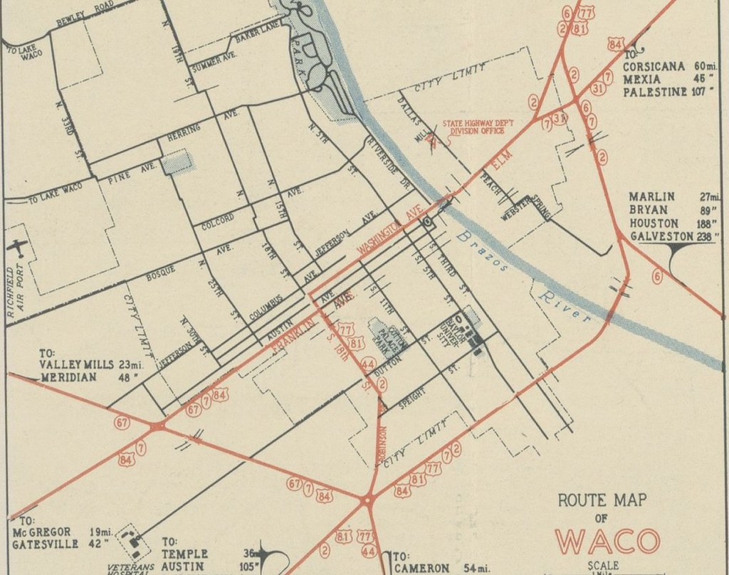 Highway History Of Waco Texas Us Ends Com