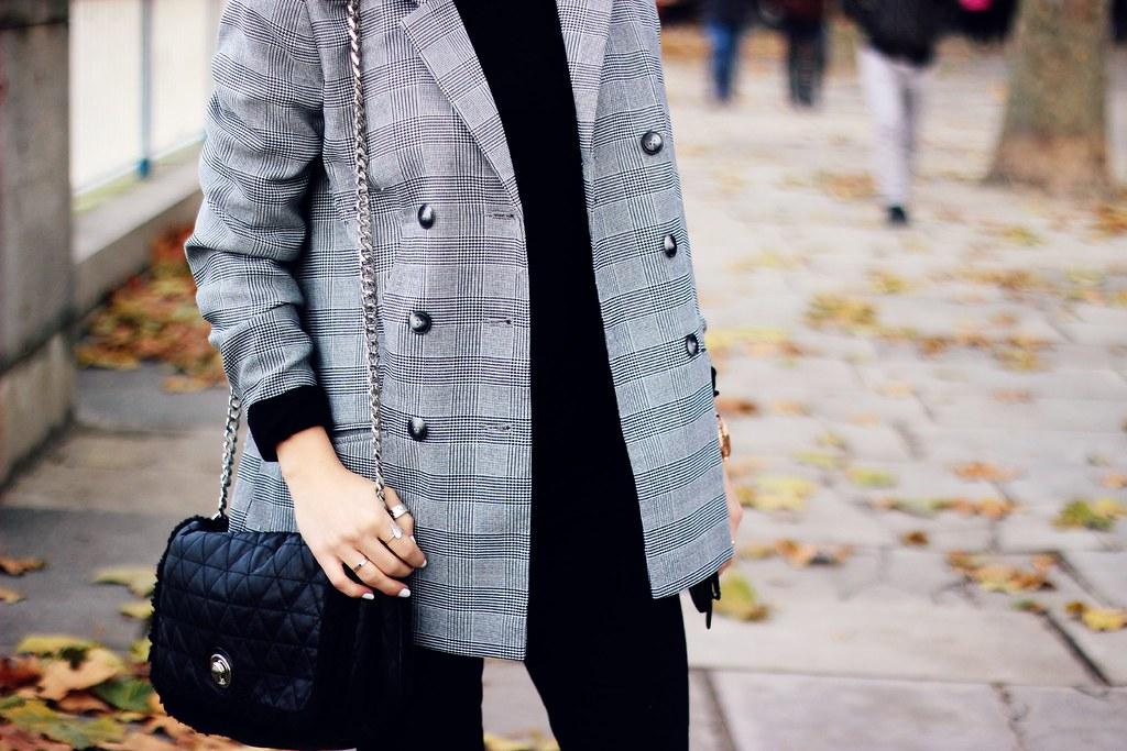 Urban Outfitters grey checked plazer outerwear collaboration 6