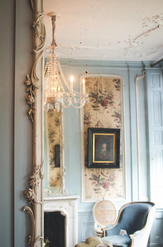 An elegant, light-filled sitting room in Amsterdam's Museum Van Loon.
