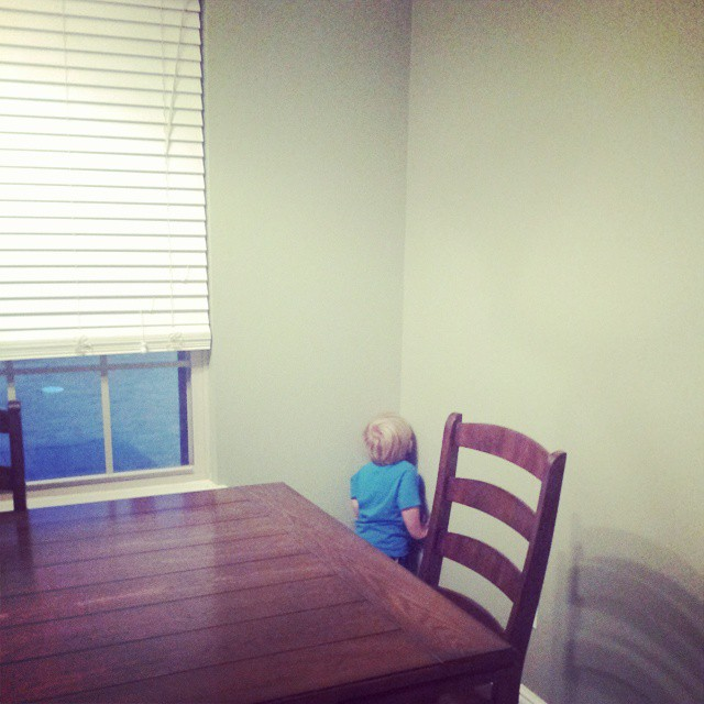 I finally have a child who is sensitive to time out. #alltheangelssang