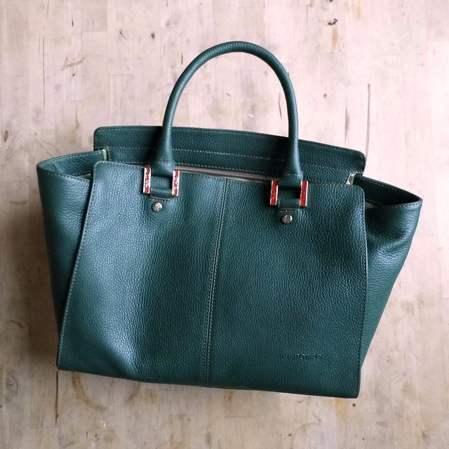El Potro Green Leather bag