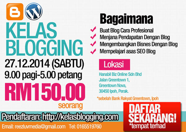 Kelas Asas Blogging Ipoh 2014 Mohd Fairiz