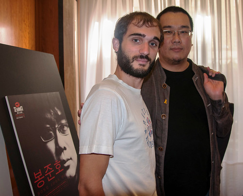Álvaro Martín y Bong Joon Ho - Cineastas - Seminci 2014- AtmosferaCine