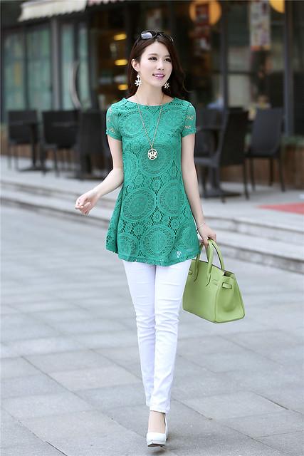 萬花筒綠色洋裝