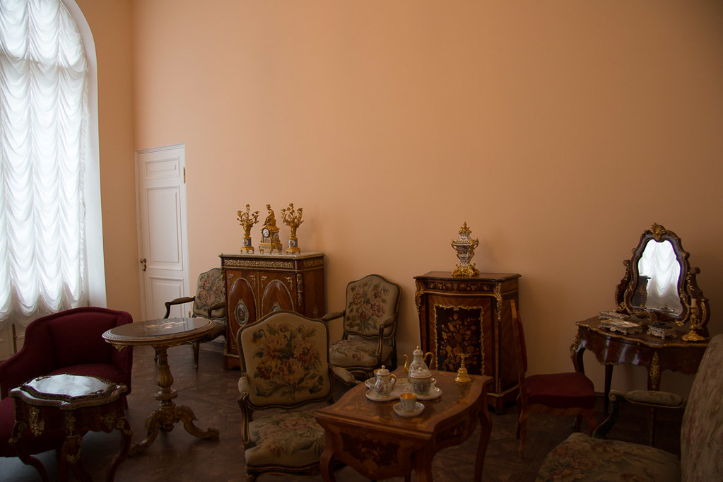 Un-restored rooms in Catherine Palace