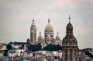 Vue sur la Basilique du Sacré Choeur depuis la terrasse des Magasins du Printemps