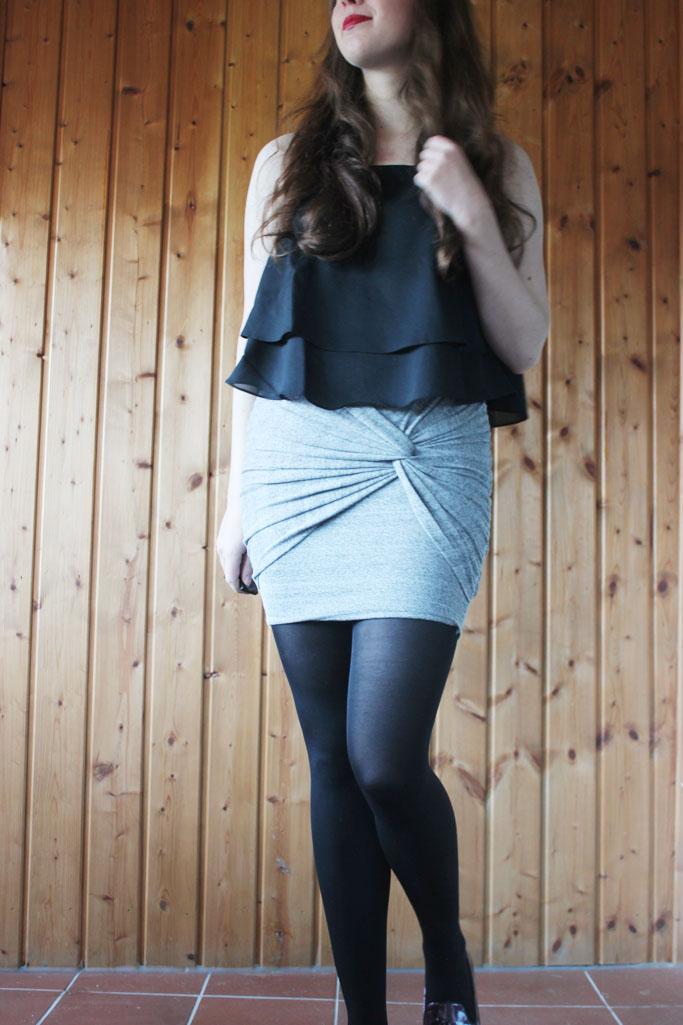 Zara doppellagiges trägertop ss 2014 - zara trend top schwarz