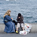 Local Mother and son in Bosphorus by JORGE LONDONO PHOTOGRAPHER