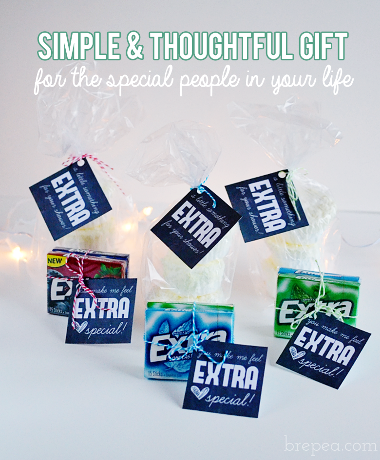 A simple and thoughtful DIY gift for the EXTRA special people in your life  #ExtraGumMoments #ad