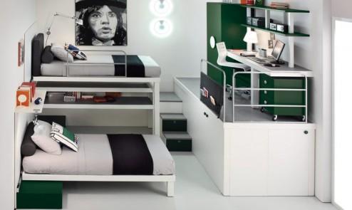 10 phòng ngủ với nội thất đôi kết hợp cho 2 đứa trẻ
