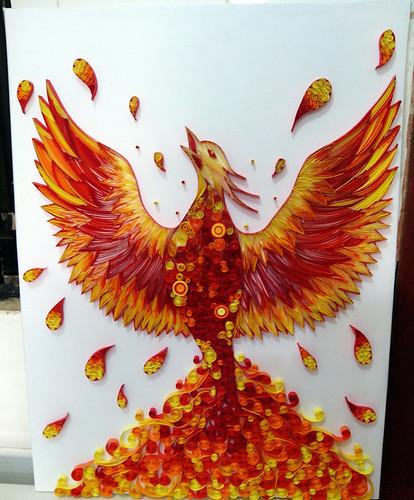 Paper quilling by Ayobola Kekere-Ekun - The Phoenix