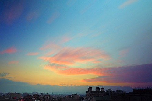 rooftop sunrise glow cloudy jan 01 日出 2015 一月 頂樓 深耕