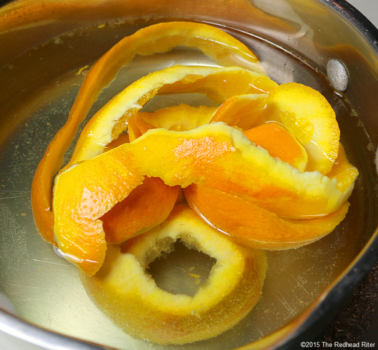 Fragrant Homemade Orange Potpourri Simmering On The Stove Top 2